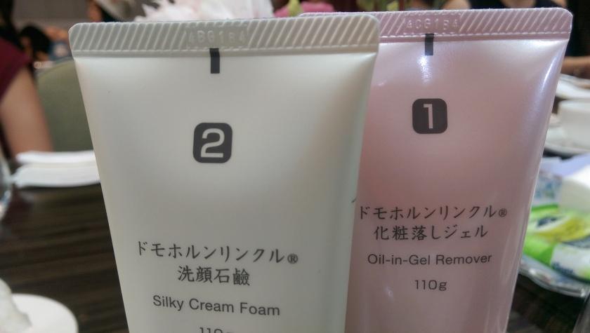 Domohorn Wrinkle每款護膚品背後都有個「號碼」,方便大家跟着號碼進行護膚程序。