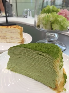 Green Tea Mille Crêpes 抹茶千層蛋糕