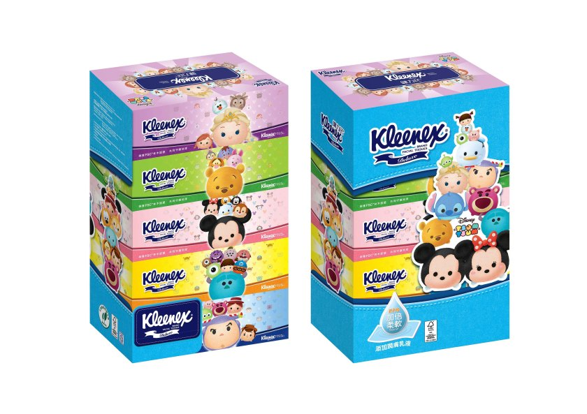 健力氏®盒裝面紙 建議零售:HK$32.9/1條5盒