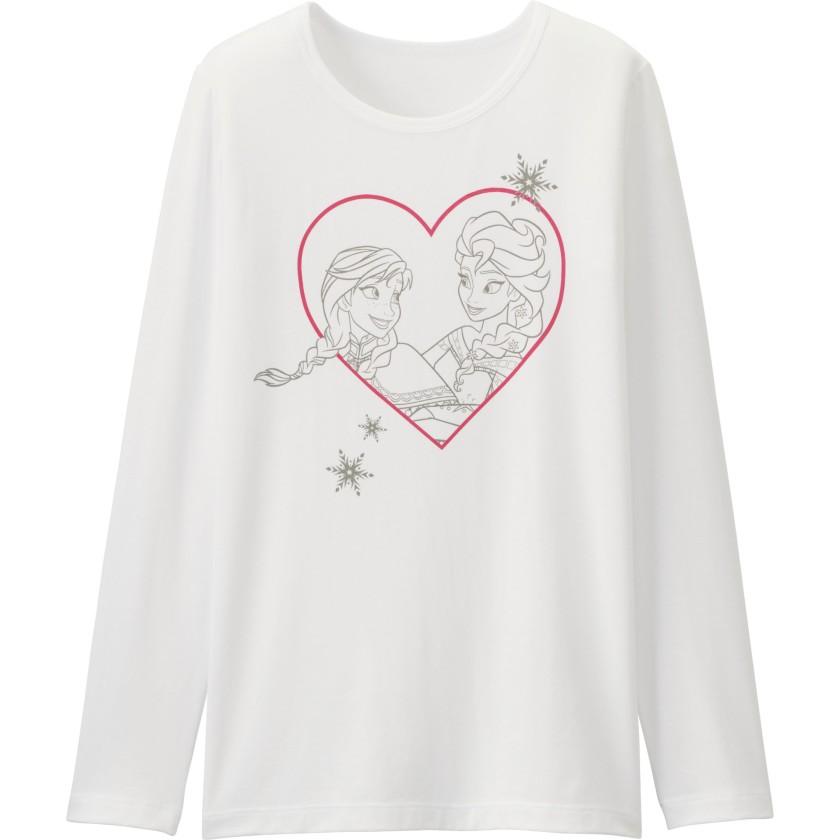 Disney Project印花HEATTECH T恤 [長袖]  $79