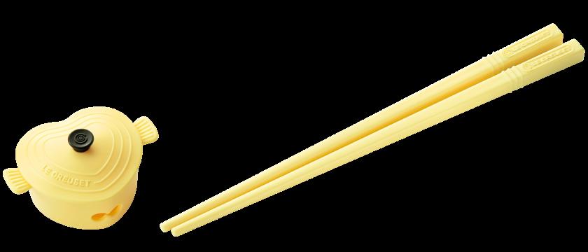 4. 粉黃心形鍋筷子