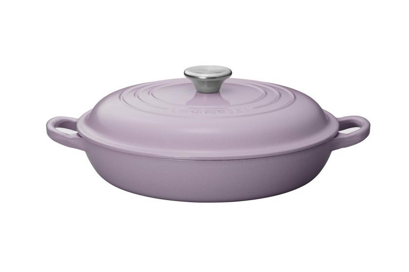 22厘米圓形淺底鑄鐵鍋 (Lavender)