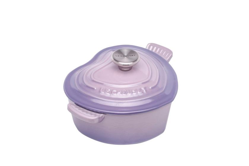 迷你心形鑄鐵鍋 (Bluebell Purple)